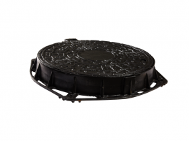 VENTILATED MANHOLE COVER D.400 710*85 WITH LOCK