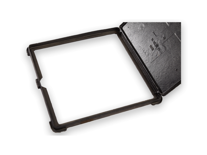 FRAME + MANHOLE COVER B125 62*62*34 WITH LOCK